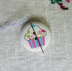 Needle Minders, Blue Stripes, Pink Blue, Washer Necklace, Cupcake, Unique Jewelry, Handmade Gifts, Awesome, Etsy