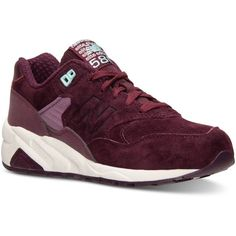 New Balance Women's 580 Meteorite Casual Sneakers from Finish Line (455 RON) ❤ liked on Polyvore featuring shoes, sneakers, burgundy, new balance footwear, burgundy sneakers, lined shoes, new balance sneakers en new balance shoes