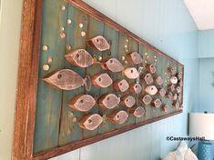 Wooden fish wall decor amazing inspiration ideas art wood school of or headboard queen size sign . Fish Wall Decor, Fish Wall Art, Fish Art, Lake Decor, Coastal Decor, Wood School, Wood Fish, Interior Design Advice, Rustic Wall Art