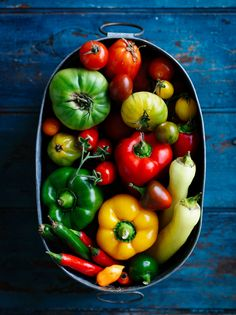 peppers + tomatoes