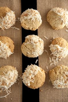 White Chocolate-Coconut cookies
