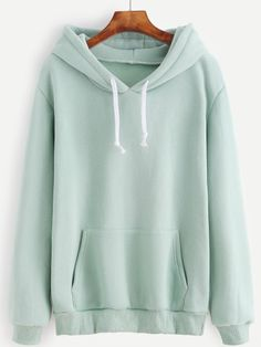 To find out about the Light Green Drawstring Hooded Pocket Sweatshirt at SHEIN, part of our latest Sweatshirts ready to shop online today! Green Sweater, Color Block Sweater, Sweatshirts Online, Hooded Sweatshirts, Online Clothing Stores, Autumn Fashion, Topshop, Pocket, Clothes For Women