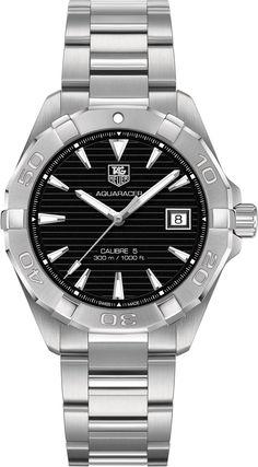 アクアレーサー 300MCalibre 5Automatic Watch40.5mm Black ブレスレット ポリッシュ仕上げスチール製 | タグ・ホイヤー