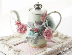 a shabby chic teapot