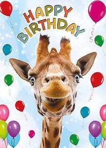 Geburtstagskarte Alles Gute Zum Geburtstag Lustig Tiere Giraffe