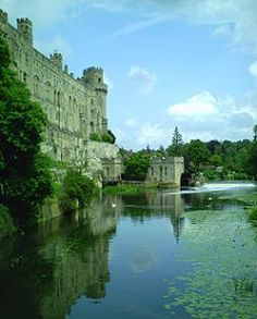Warwick Castle viewed from the River Avon. My aunt and uncle took me there when I was 10 yrs old. It's was amazing!!!