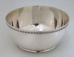 Greek Key Baby Bowl American Sterling Silver Gorham 1920 - Sold