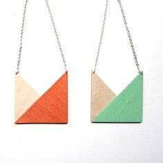 Geometric necklaces handmade by Snug Studio, and other lovely pastel finds.