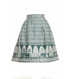 Elspeth Skirt Chocolate Shop in Teal - Womens Skirts from Poppy UK