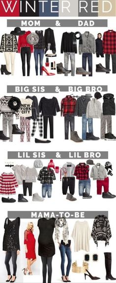 Family portrait outfits for What to wear for your family photos, including mom, dad, big sis Winter Family Pictures, Christmas Pictures Outfits, Family Pics, Christmas Photos, Holiday Photos, Christmas Outfits, Family Posing, Mom Family, Christmas Clothes