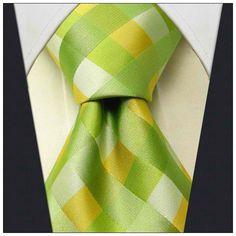 Green / Yellow Check Necktie