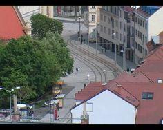 Pallet Standartized europallet, modified to ride in the tram tracks. Realized in Bratislava, Slovakia. 2008