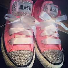 Blinged out Chuck Taylor's.