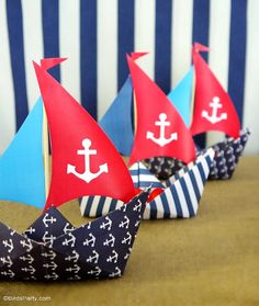 A Preppy Nautical Birthday Party Deserts Table