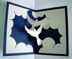 Libros Pop-Up Books Cards: Tarjetas Pop-up en el Blog Jugar con papel
