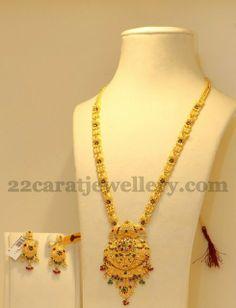 Jewellery Designs: Simple Enamel Gundla Haram