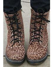 Dr Doctor Marten DM Style Leopard Print Studded Boots