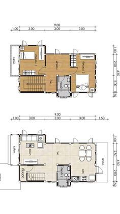 Small Home design Plans with 2 Bedrooms - House Plan Map 2 Bedroom House Plans, Modern House Facades, Simple House Design, Under Stairs, Facade House, Home Design Plans, Family Room, Bedrooms, Floor Plans