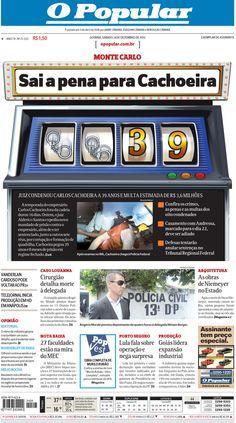 Arte para capa do jornal O POPULAR