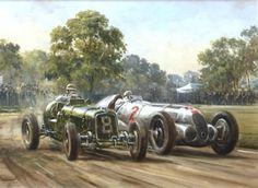 I love old racing art