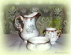 Hey, I found this really awesome Etsy listing at https://www.etsy.com/listing/82391753/antique-green-transferware-chamber-set