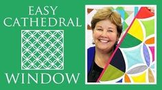 Easy Cathedral Window Quilt: Simple Quilting Tutorial with Jenny Doan of Missouri Star Quilt Co approx size: x pack of charm colored (background)squares and 1 pack squares-solids. Jenny Doan Tutorials, Msqc Tutorials, Quilting Tutorials, Quilting Tips, Star Quilts, Easy Quilts, Quilt Blocks, 24 Blocks, Cathedral Window Quilts