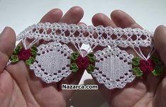 Photo from album Crochet Bra, Crochet Video, Crochet Motifs, Crochet Borders, Filet Crochet, Crochet Patterns, Crochet Flower Tutorial, Crochet Flowers, Viking Tattoo Design