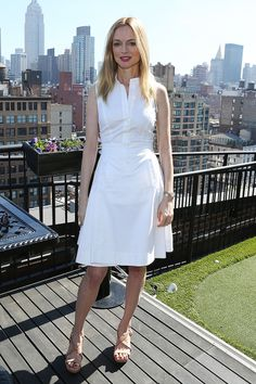 Heather Graham Says The Movie Business is Totally Sexist!: Photo Heather Graham is white hot while attending the Women's Film Brunch during the 2014 Tribeca Film Festival at Company 3 on Monday (April in New York City. Heather Graham, Tailored Fashion, Tribeca Film Festival, Red Carpet Fashion, Spring Dresses, Festival Fashion, Mannequin, Celebrity Style, Celebrity Women