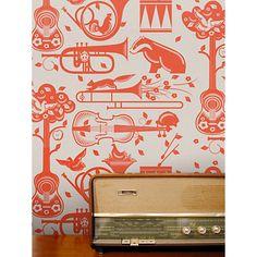 Buy Mini Moderns Pet Sounds Wallpaper Online at johnlewis.com