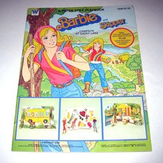 Barbie camping paper dolls