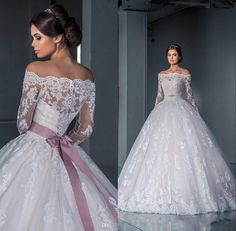 Luxurious Ball Gown Lace Wedding Dresses 2016 Off The Shoulder ...