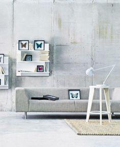 wohnzimmer einrichten beispiele industrieller stil wandgestaltung wandregale