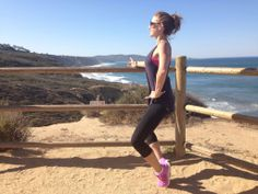 Carly from The Bar Method of Summit does some thigh work in the California sun. Beautiful scenery...and form! #WhereDoYouBar?