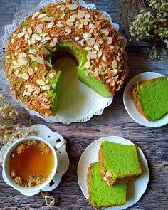 Marble Cake Recipes, Dessert Cake Recipes, Snack Recipes, Cooking Recipes, Bolu Cake, Pandan Cake, Indonesian Desserts, Indonesian Food, Indonesian Recipes