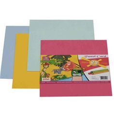 Imperial Pastel Card 25 Sheets — Pastel card sheets to make your designs and projects look colorful and presentable.
