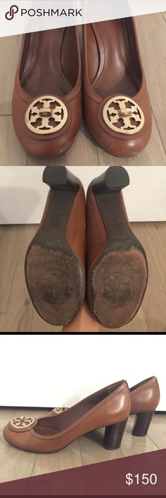 Tory Burch Pumps, Size 7 Great condition brown leather Tory Burch Pumps, Size 7. Perfect chunk heel, very comfortable. Tory Burch Shoes Heels