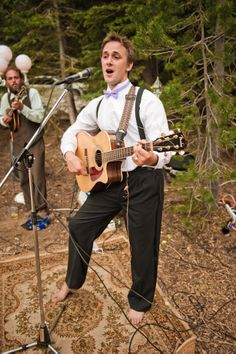 Love love love- have rugs on the ground and then members of the wedding party and friends jam for the guests in barefeet!