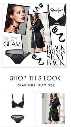 """""""Black Bra"""" by mujkic-merima ❤ liked on Polyvore featuring black, goodnight and Sexy"""