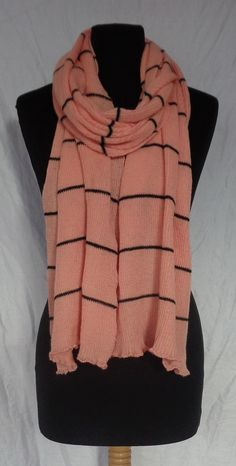 Peach Pink Long Shawl  Icelandic Production by HuldaGK on Etsy
