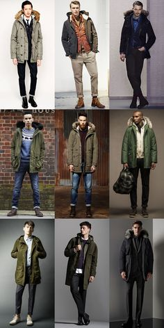 Men's 2014 Autumn/Winter Military Trend : Military-Inspired Outerwear The Parka… Military Trends, Military Outfits, Parka Outfit, Winter Outfits Men, Winter Wear, Mens Winter, Look Cool, Winter Jackets, Winter Coats
