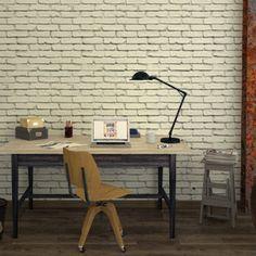 Effet trompe-l'oeil garanti avec ce magnifique intissé JEFFERSON ! Les briques blanches donnent du relief à vos murs. Leur aspect brut apporte du caractère dans votre déco, pour une ambiance atelier à la fois authentique et lumineuse.