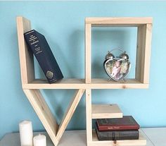 Items similar to A wooden shelf in the form of words of LOVE on Etsy - Items similar to A wooden shelf in the form of words of LOVE on Etsy Деревянная полка в форме слова LOVE by LoveDecorShop on Etsy Wood Shop Projects, Wooden Pallet Projects, Pallet Crafts, Wood Crafts, Diy Projects, Diy Furniture Plans, Diy Furniture Projects, Woodworking Projects Diy, Kids Woodworking