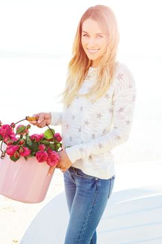 cozy sweater & jeans #LaurenConrad