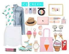 """""""ohsoicecream"""" by ohsounicorn ❤ liked on Polyvore featuring interior, interiors, interior design, home, home decor, interior decorating, Karl Lagerfeld, Sunnylife, Gab+Cos Designs and Kate Spade"""