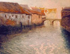 Frits Thaulow 1847-1906: Gammel fabrikk, fargeradering