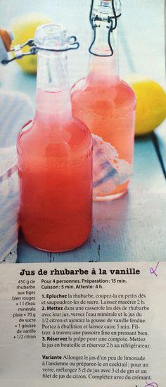 Jus de rhubarbe à la vanille