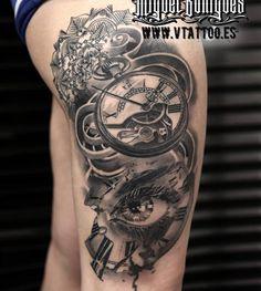 Tatuaje reloj de bolsillo - Miguel Bohigues - Vtattoo Más