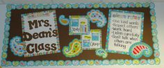 Back to School Bulletin Board with CTP's Dots on Turquoise collection!