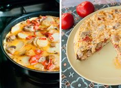 A delicious Spanish Omelette with Chorizo and spinash