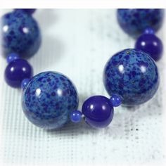 Czech Glass Lapis Glass Bead Graduated by JunkboxTreasures on Etsy
